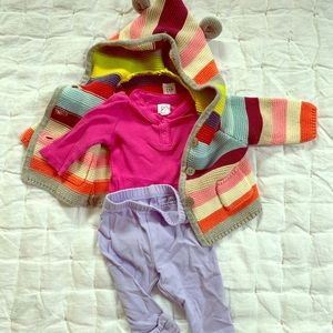 Baby Gap Brannon Bear Sweater Outfit